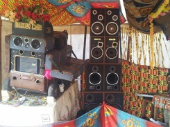 The boom box inside Masala
