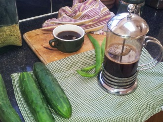 Coffee and gardening